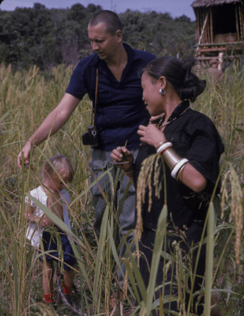 George N. Appell in the field in Sabah in 1963 with daughter Laura P.