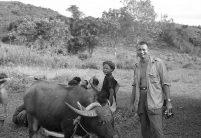 George N. Appell in the field in Sabah with Marajun, his primary field assistant.